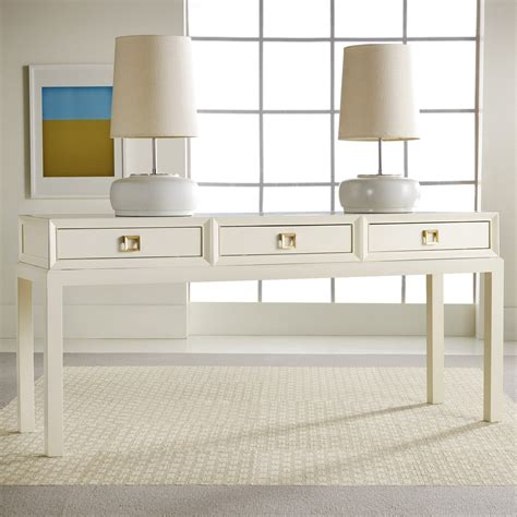 white entry table with drawers console table with drawers modern white console table