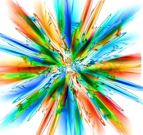 nice rainbow explosion generated   computer stock