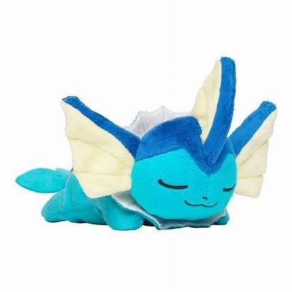 Vaporeon Plush Sleeping Kuttari Pokemon Center Toy