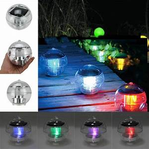 Colored Solar Pathway Lights Outdoor Solar Led Floating Lights Garden Pond Pool Lamp