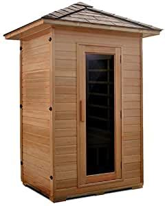 Amazon.com : 2 Person Outdoor Crystal Sauna Hemlock Wood