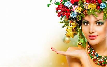 Wallpapers Models Colorful Subbotina Anna Christmas Beauty