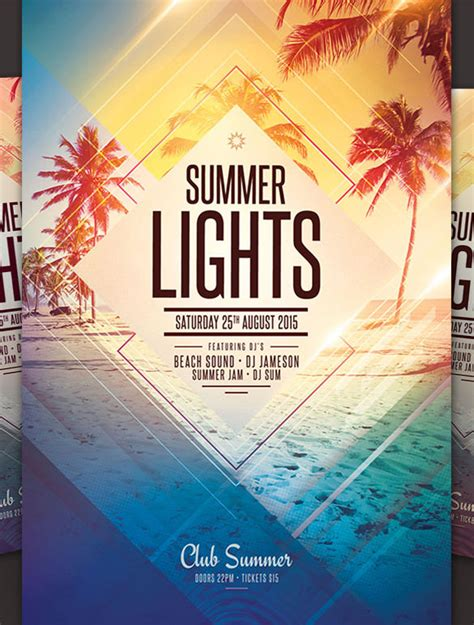 summer flyer templates free free summer flyer template summer flyer template 17