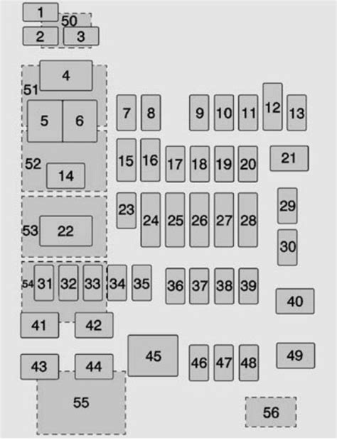 Tahoe Fuse Box Wiring by Chevrolet Tahoe 2015 2016 Fuse Box Diagram