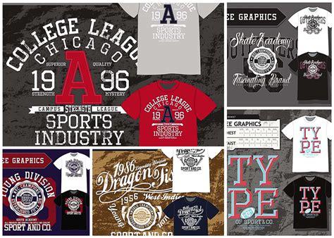 t shirt design sport templates vector free download