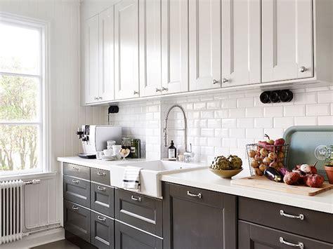 white upper cabinets black  cabinets design ideas