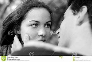Love And Affection Between A Young Couple Stock Images ...