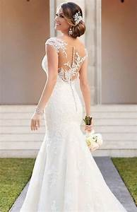 39 button back wedding dresses that impress happyweddcom With button back wedding dress