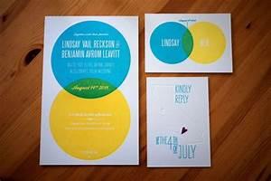 Lindsay   Ben U0026 39 S Modern Venn Diagram Wedding Invitations