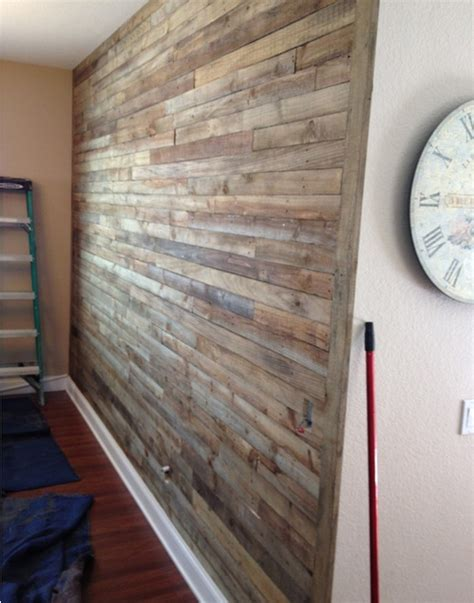 new simple type wooden wall pallet wall project how to make a pallet wall project