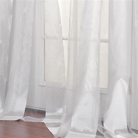 boutique white sheer curtain panel shabby chic