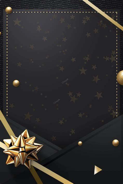 invitation black gold color scheme poster background