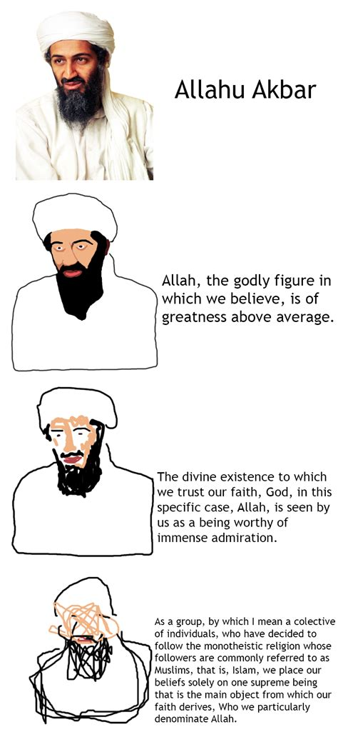 Verbose Memes - allahu akbar increasingly verbose memes know your meme