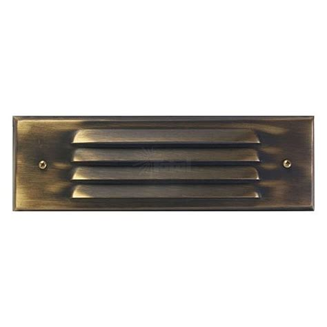 outdoor low voltage louvered architectural bronze