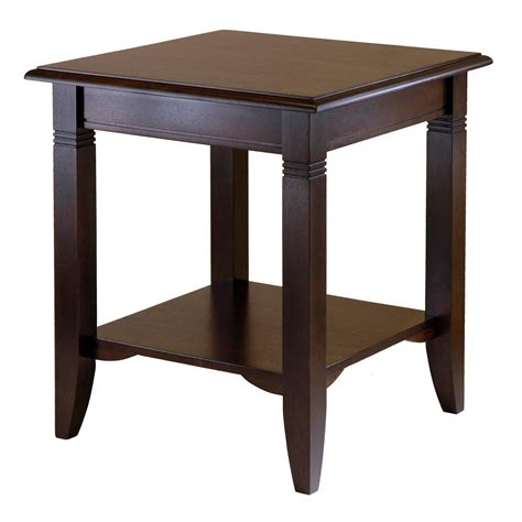 end tables amazon com winsome wood nolan end table kitchen dining