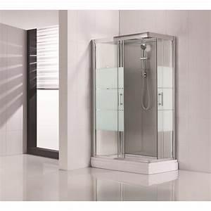 Cabine De Douche Receveur Haut : cabine de douche optima2 grise hydromassante mitigeur ~ Edinachiropracticcenter.com Idées de Décoration