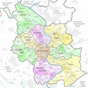 Köln Plz Karte : k ln stadt bezirke stadtteile karte einwohner plz ~ Eleganceandgraceweddings.com Haus und Dekorationen