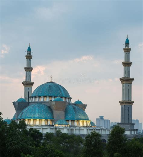 federal territory mosque malaysia stock image image