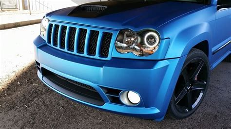 jeep grand cherokee  matte metallic blue vinyl wrap
