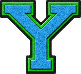 Light Blue Letter Y