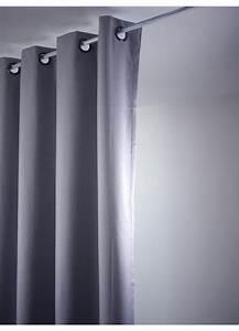 Rideau Gris Clair : rideau uni occultant avec oeillets gris clair gris fonc ficelle beige rouge ~ Teatrodelosmanantiales.com Idées de Décoration