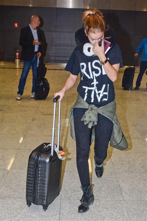 Barbara Palvin at Guarulhos International Airport in ...