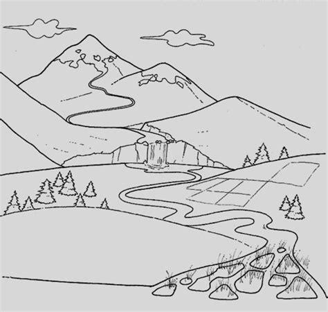 disegni da colorare paesaggi paesaggi disegni facili