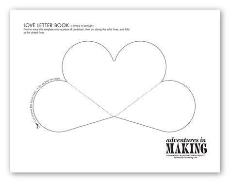 diy love letter books   valentine