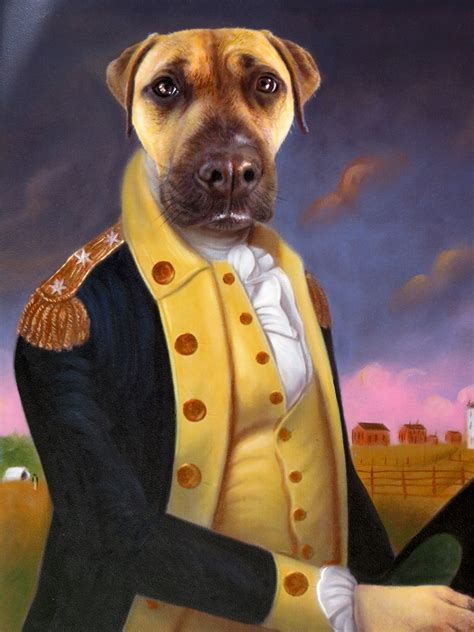 George Washington Dog Painting Splendid Beast Portraits
