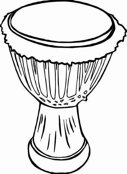 Drum Coloring Clipart African Pages Drawing Drums