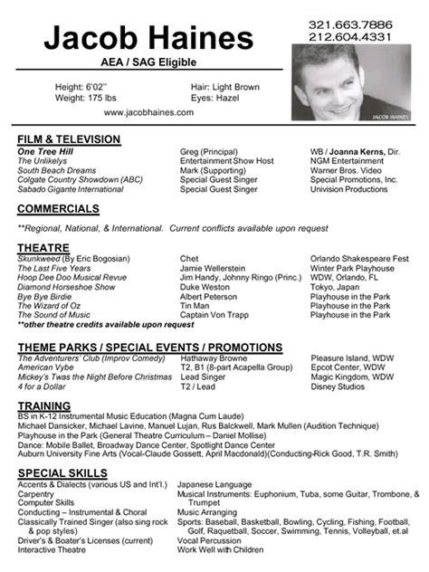 standard resume format for freshers