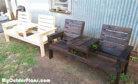 diy outdoor chair bench myoutdoorplans