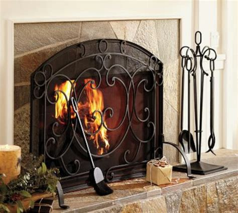 pottery barn fireplace screen pottery barn fireplace screen pb classic fireplace