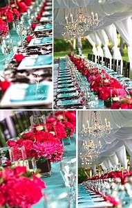 Turquoise and pink wedding reception   Turquoise and Pink ...