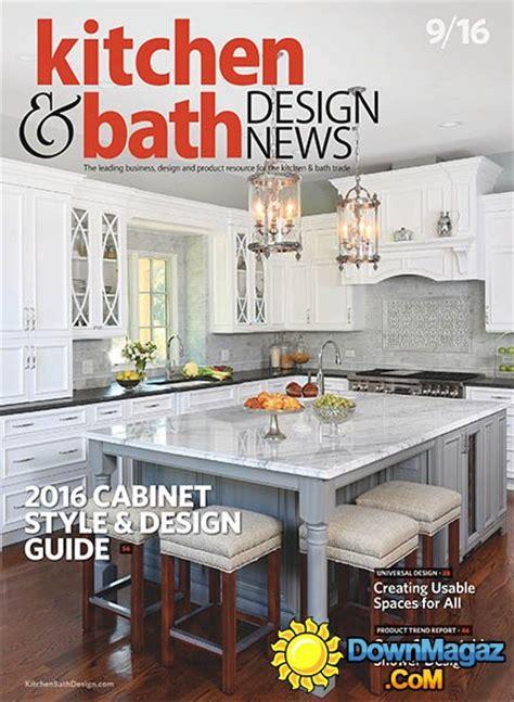 Kitchen & Bath Design News  September 2016 » Download Pdf
