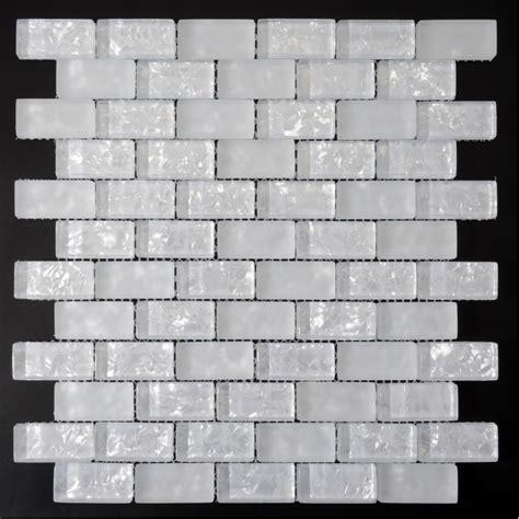 white glass mosaic tile white subway tiles crackle crystal backsplash kitchen wall tile crackle glass mosaic bathroom