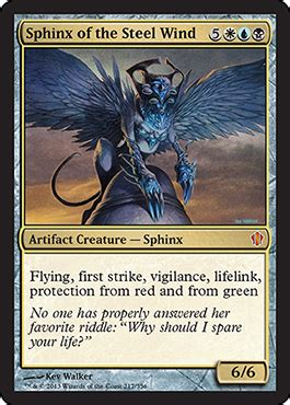 Blue Artifact Commander Deck by Sphinx Of The Steel Wind From Commander 2013 Spoiler
