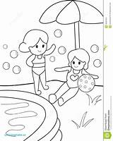 Swimming Coloring Pool Pages Kid Summer Drawing Getdrawings Print Sketch Template Preview sketch template
