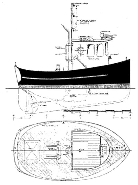 Mini Boat Drawing by Small Tug Plans Studio Design Gallery Best Design