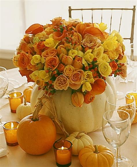 42 amazing flower decorations for a thanksgiving table digsdigs