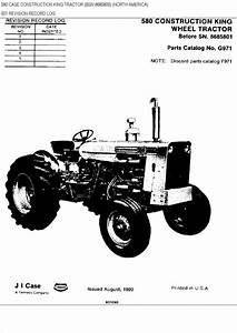 Case 580 Ck Wheel Tractor Parts Catalog Manual