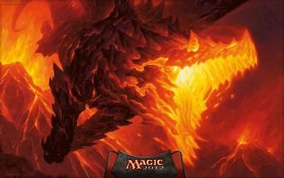 Magic Dragon Gathering Mtg Wallpapers Volcanic Wizards