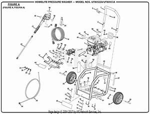 Homelite Ut80522a Pressure Washer Parts Diagram For Figure A