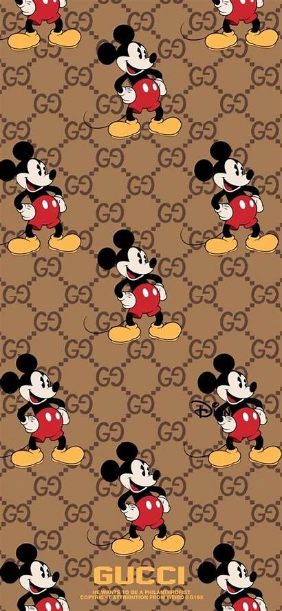 Mickey Mouse Wallpapers Gucci Minnie Disney Iphone