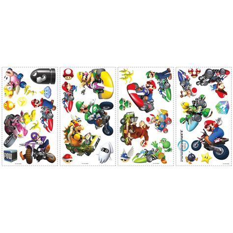 mario kart wii  big wall stickers racing cars room decor