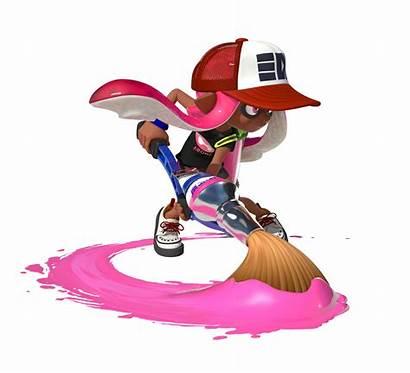 Splatoon Official Characters Character Inklings Brush Renders