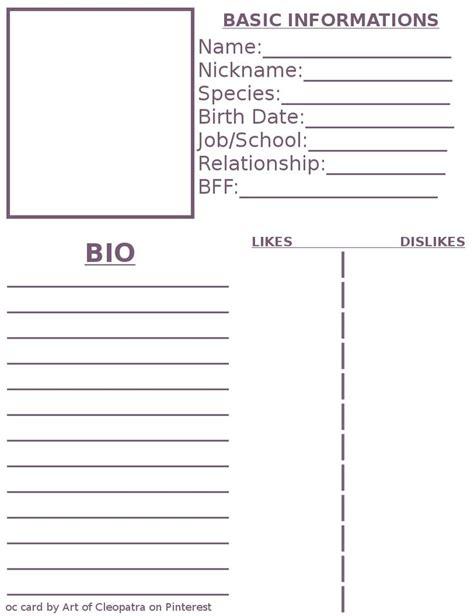 pin  ming     character sheet template character