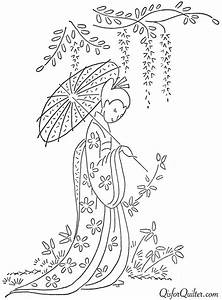 Vintage Japanese Embroidery Designs – Q is for Quilter