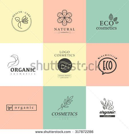 vector collection of cosmetics logo identity templates and eco product label organic