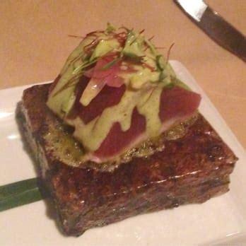 himalayan salt ls scottsdale az lon 39 s at the hermosa sushi grade tuna seared on a block